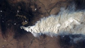 View of Las Conchas fire from the International Space Station | Los Alamos National Laboratory